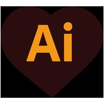 Logo Adobe Illustrator®, application utilisée pour l'exécution graphique