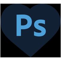 Logo Adobe Photoshop®, logiciel utilisé pour l'exécution graphique