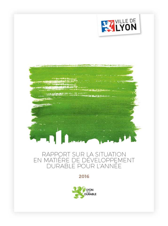 Couverture du rapport d'activité sur la situation en matière de développement durable de la Ville de Lyon